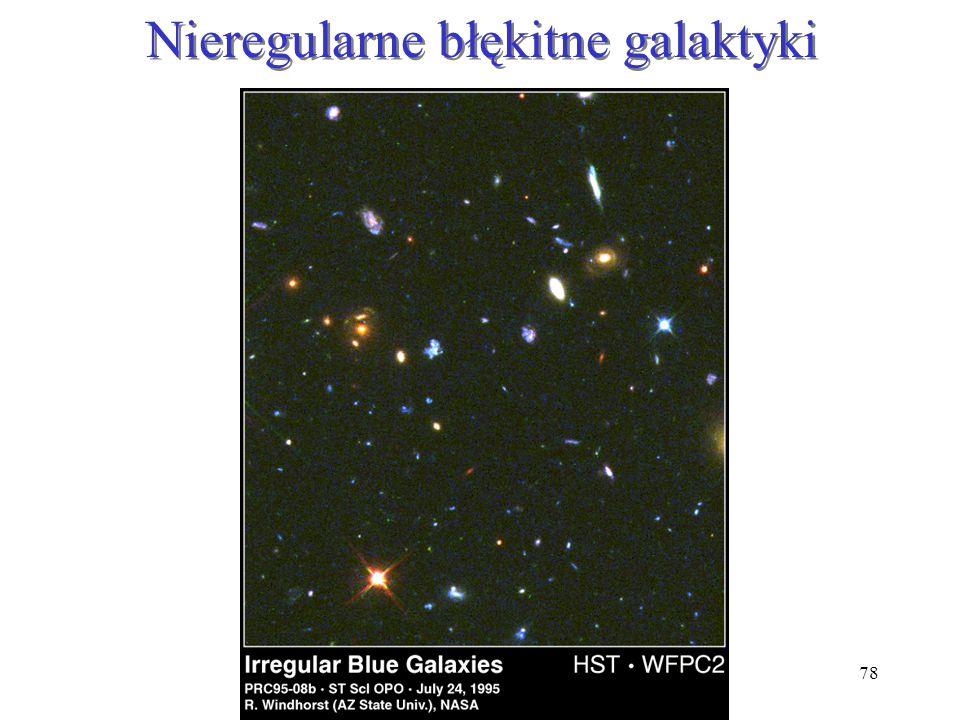 Nieregularne błękitne galaktyki