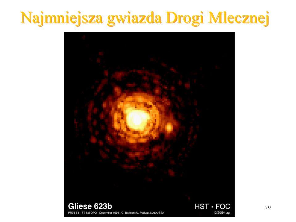 Najmniejsza gwiazda Drogi Mlecznej