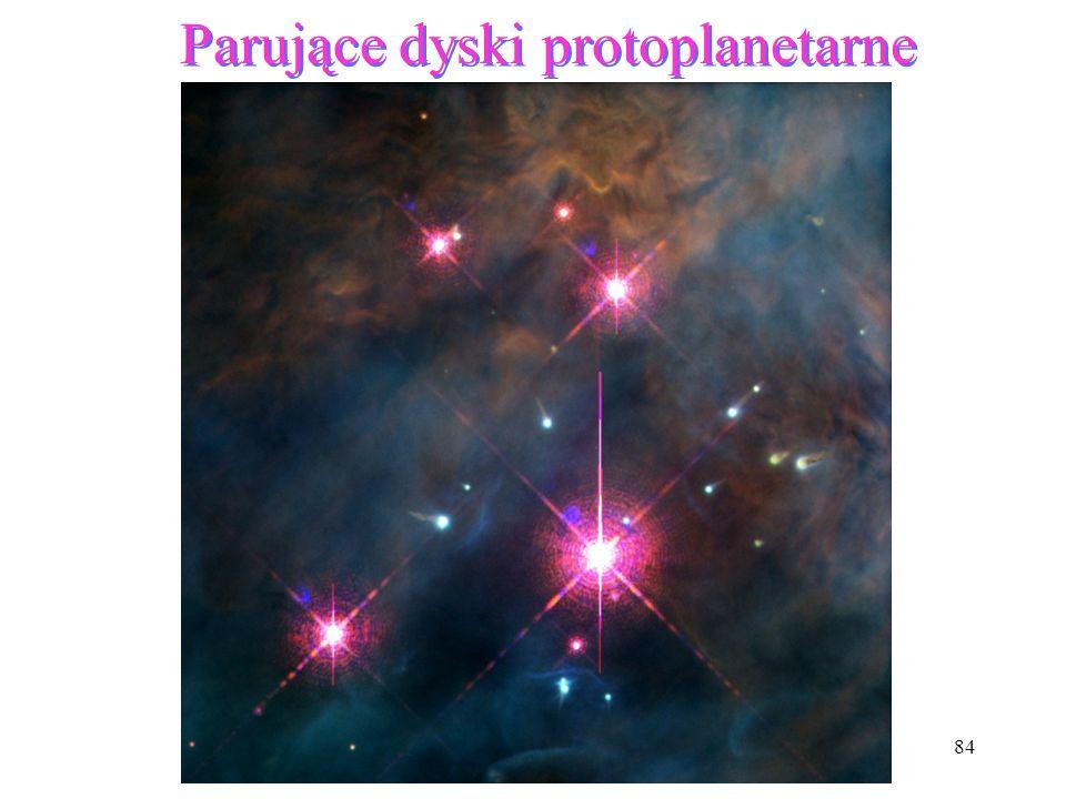 Parujące dyski protoplanetarne