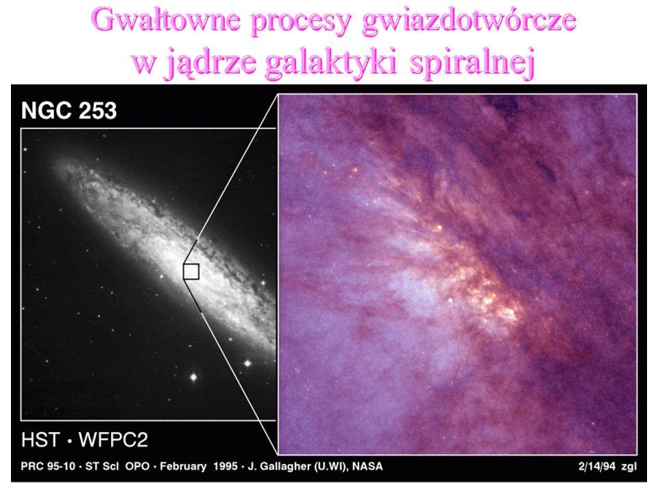 w jądrze galaktyki spiralnej