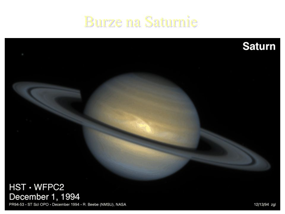 Burze na Saturnie