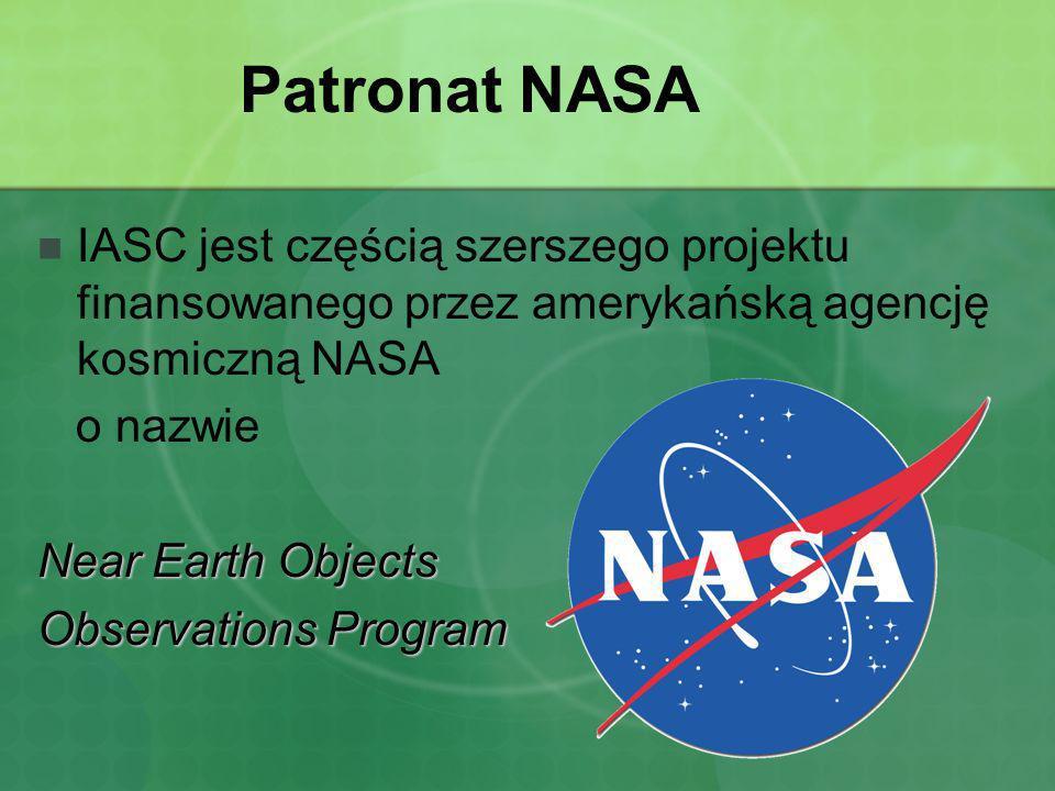 Patronat NASA IASC jest częścią szerszego projektu finansowanego przez amerykańską agencję kosmiczną NASA.