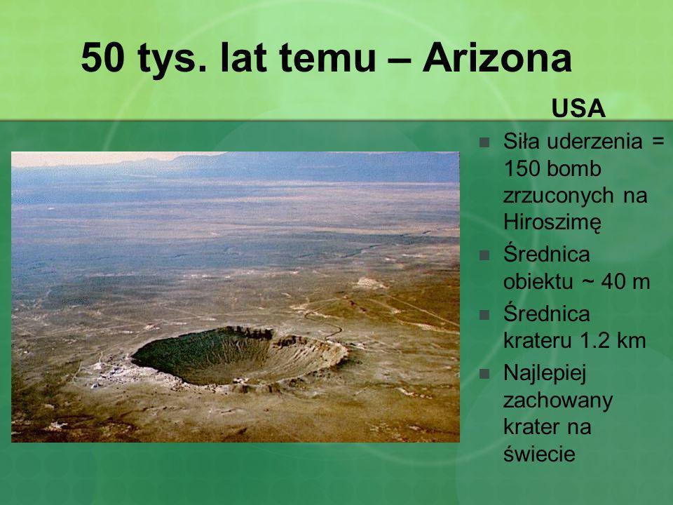 50 tys. lat temu – Arizona USA