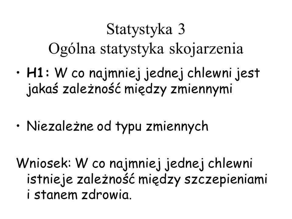 Statystyka 3 Ogólna statystyka skojarzenia