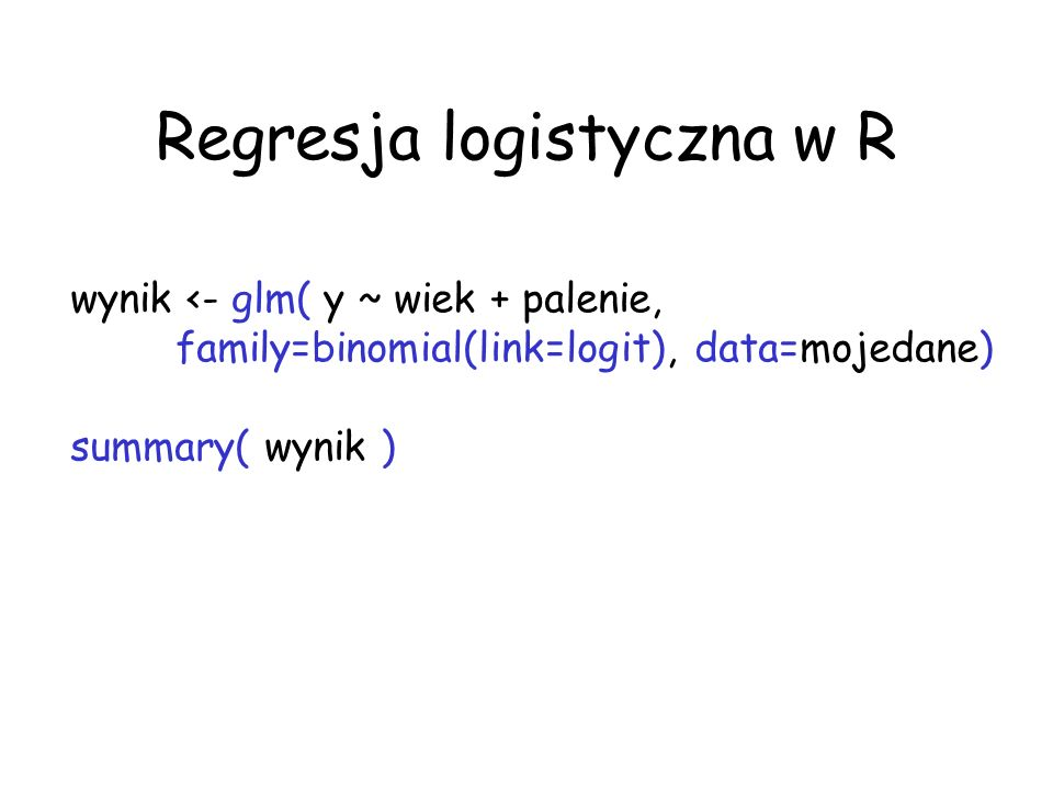 Regresja logistyczna w R