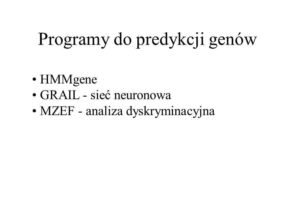Programy do predykcji genów
