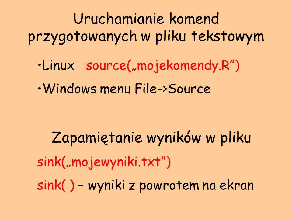 Uruchamianie komend przygotowanych w pliku tekstowym