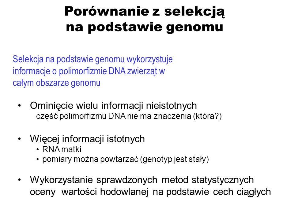 Porównanie z selekcją na podstawie genomu