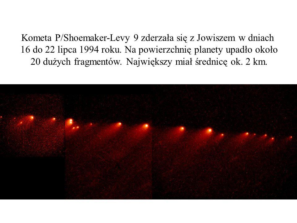 Kometa P/Shoemaker-Levy 9 zderzała się z Jowiszem w dniach