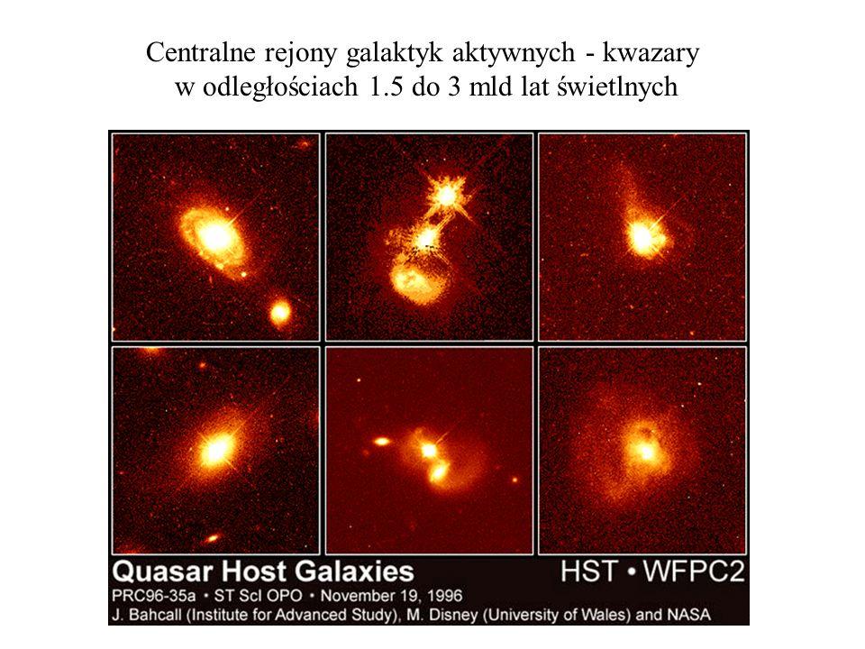 Centralne rejony galaktyk aktywnych - kwazary