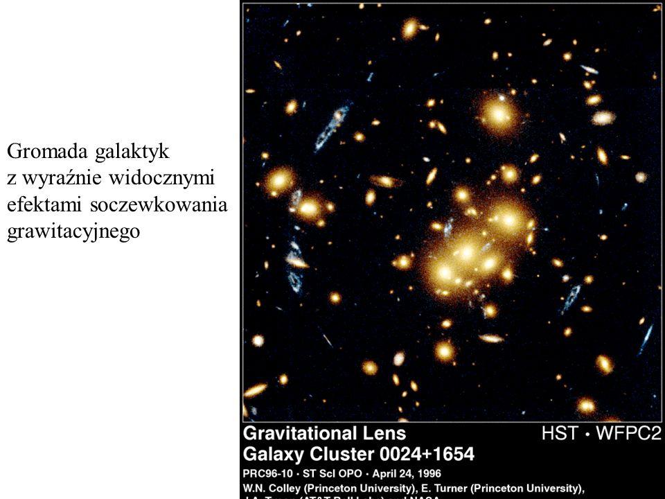 Gromada galaktyk z wyraźnie widocznymi efektami soczewkowania grawitacyjnego