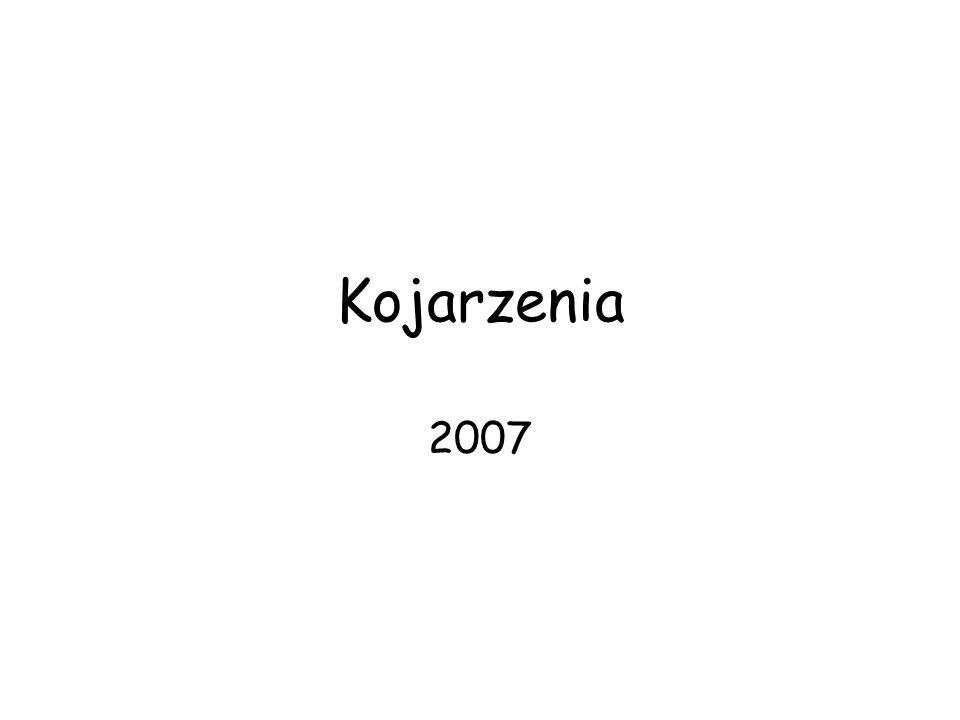 Kojarzenia 2007