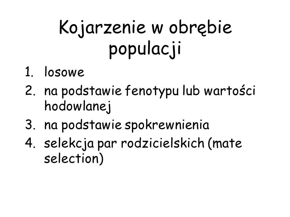 Kojarzenie w obrębie populacji