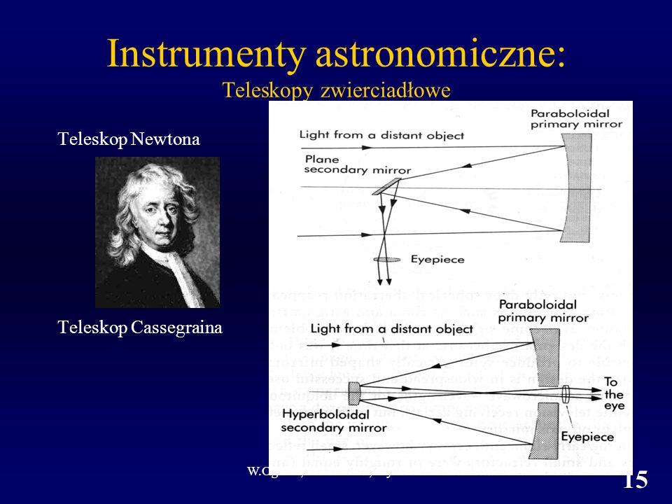 Instrumenty astronomiczne: Teleskopy zwierciadłowe