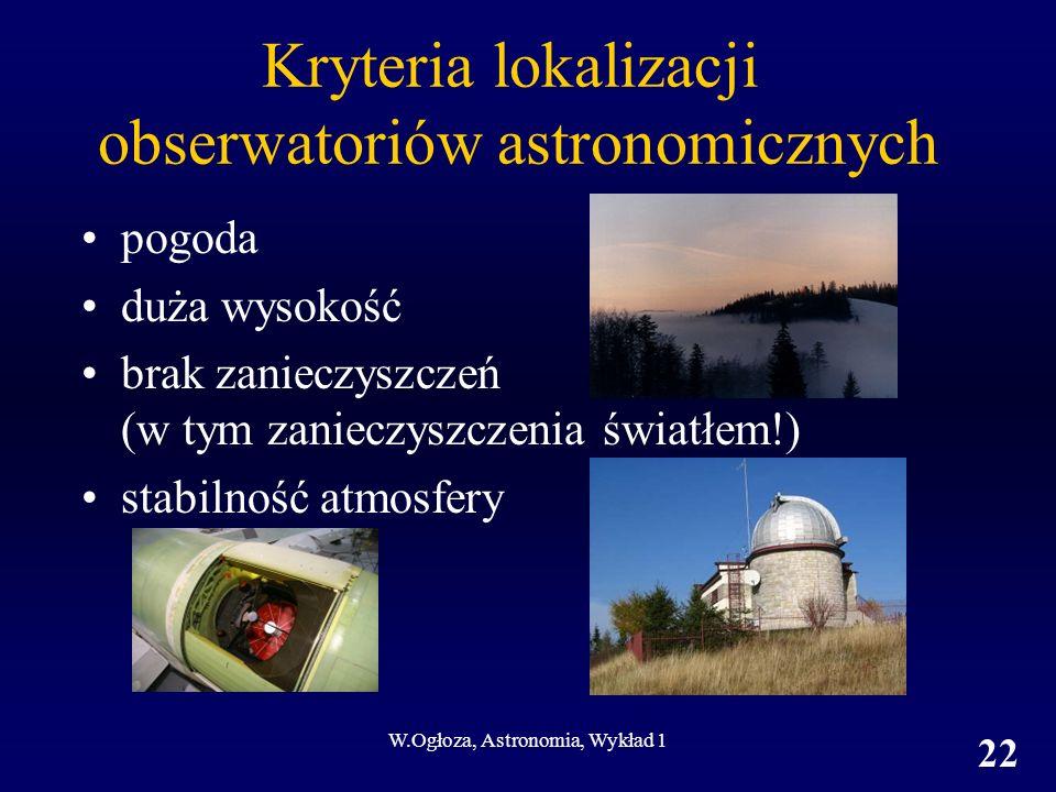 Kryteria lokalizacji obserwatoriów astronomicznych