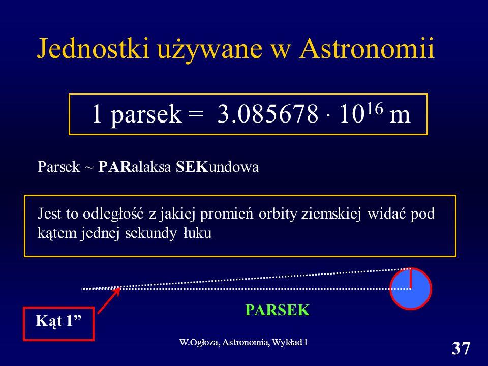 Jednostki używane w Astronomii