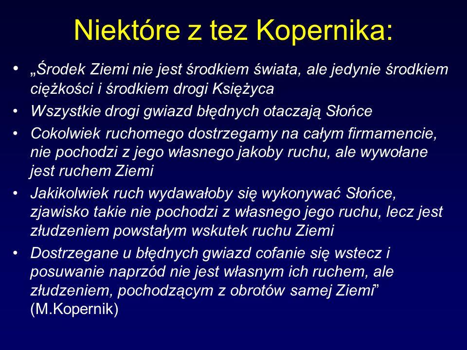 Niektóre z tez Kopernika: