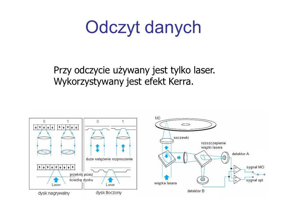 Odczyt danychPrzy odczycie używany jest tylko laser. Wykorzystywany jest efekt Kerra.