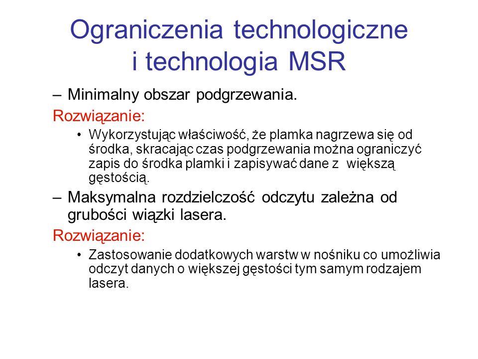 Ograniczenia technologiczne i technologia MSR