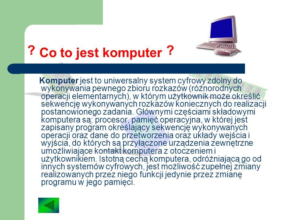 Co to jest komputer.