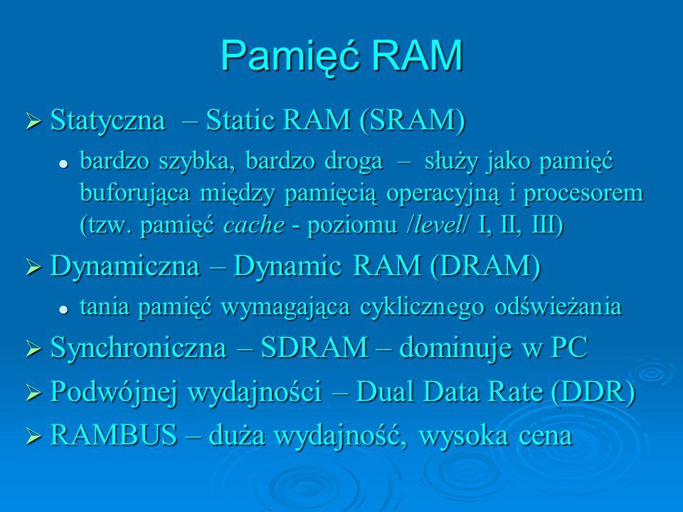 Pamięć RAM Statyczna – Static RAM (SRAM)