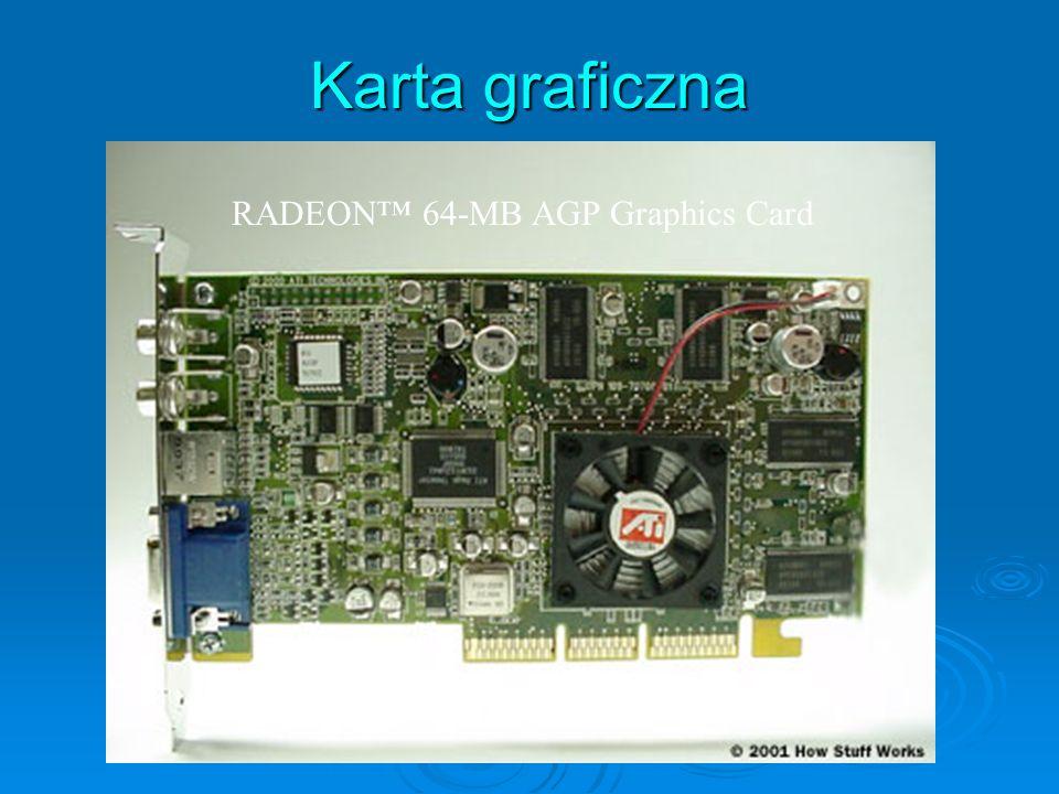 Karta graficzna RADEON™ 64-MB AGP Graphics Card