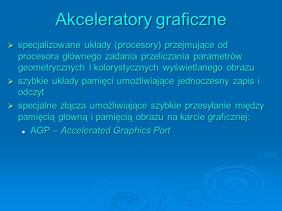 Akceleratory graficzne