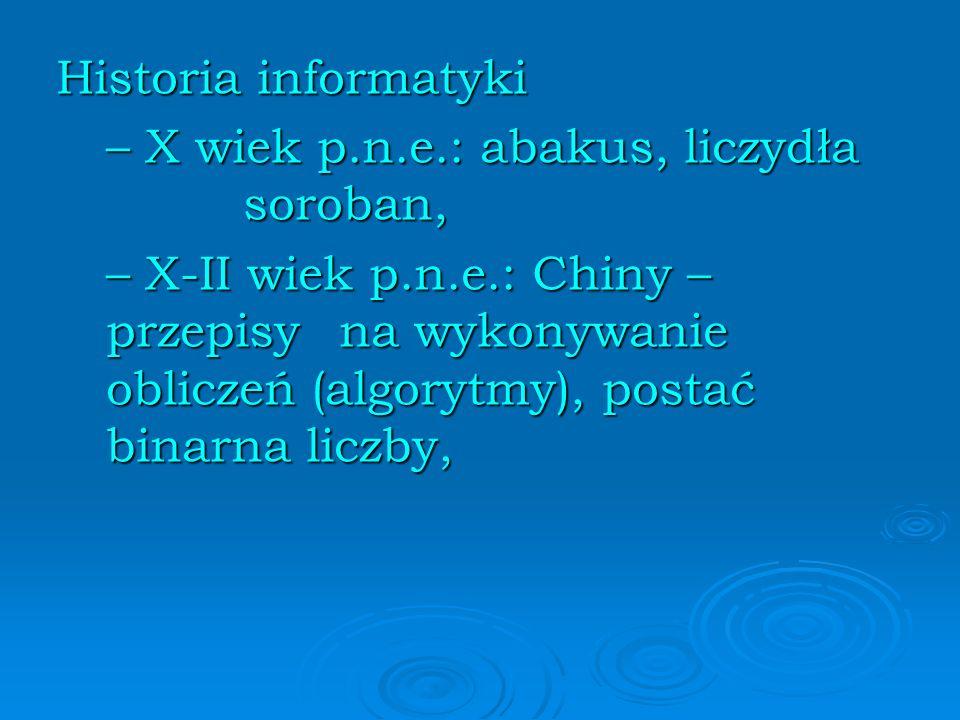 Historia informatyki – X wiek p.n.e.: abakus, liczydła soroban,