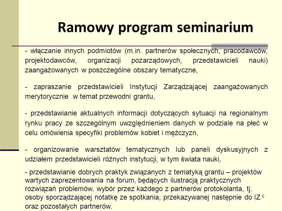Ramowy program seminarium