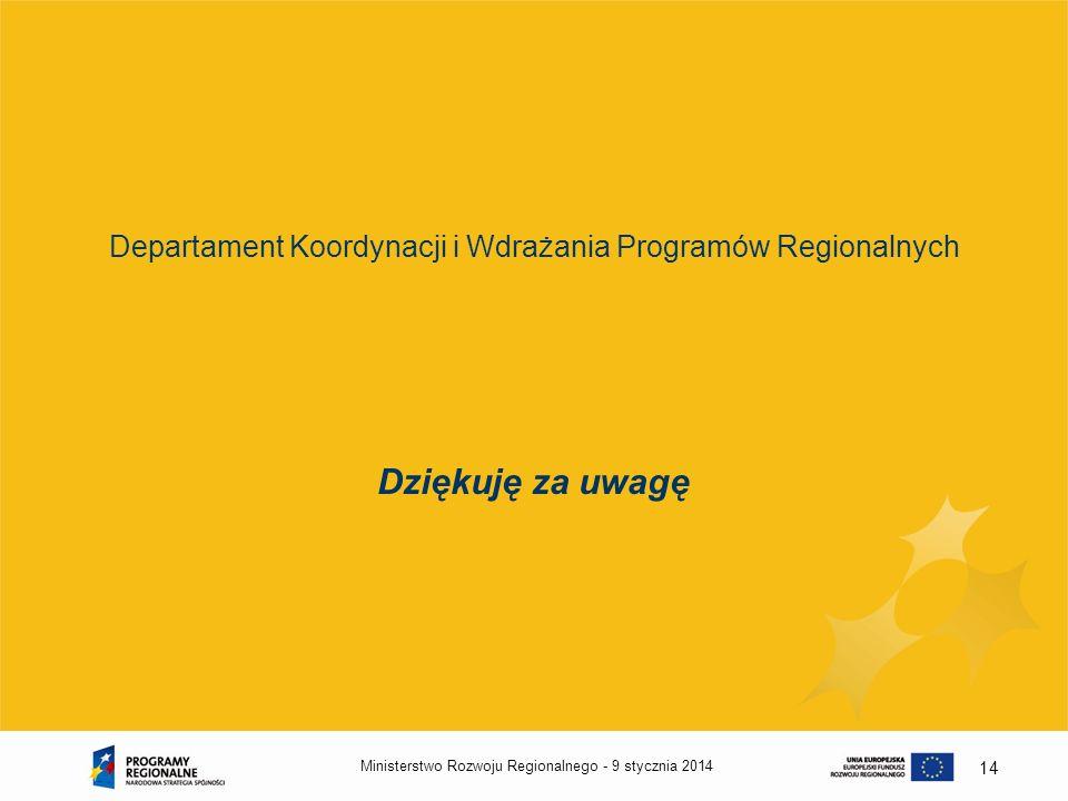 Departament Koordynacji i Wdrażania Programów Regionalnych