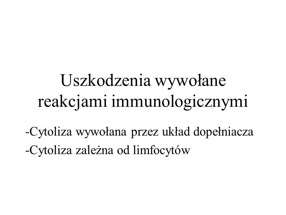 Uszkodzenia wywołane reakcjami immunologicznymi