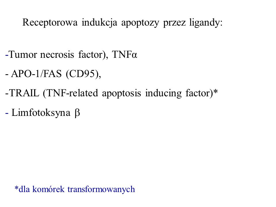 Receptorowa indukcja apoptozy przez ligandy: