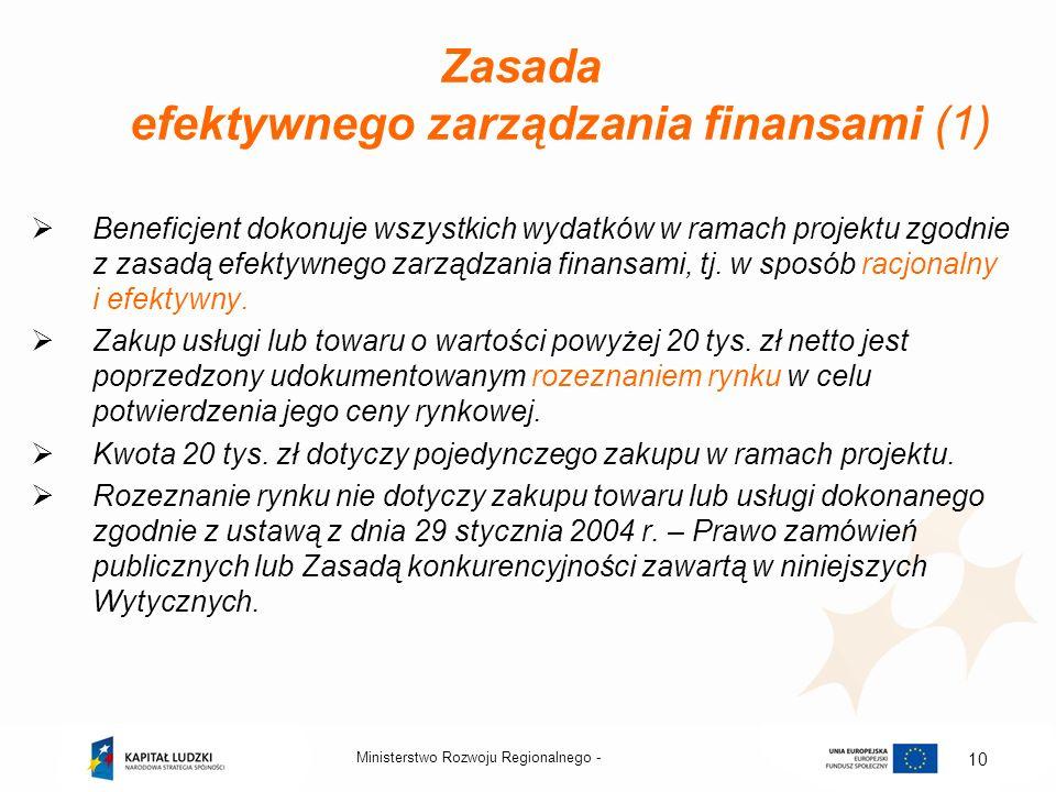 Zasada efektywnego zarządzania finansami (1)