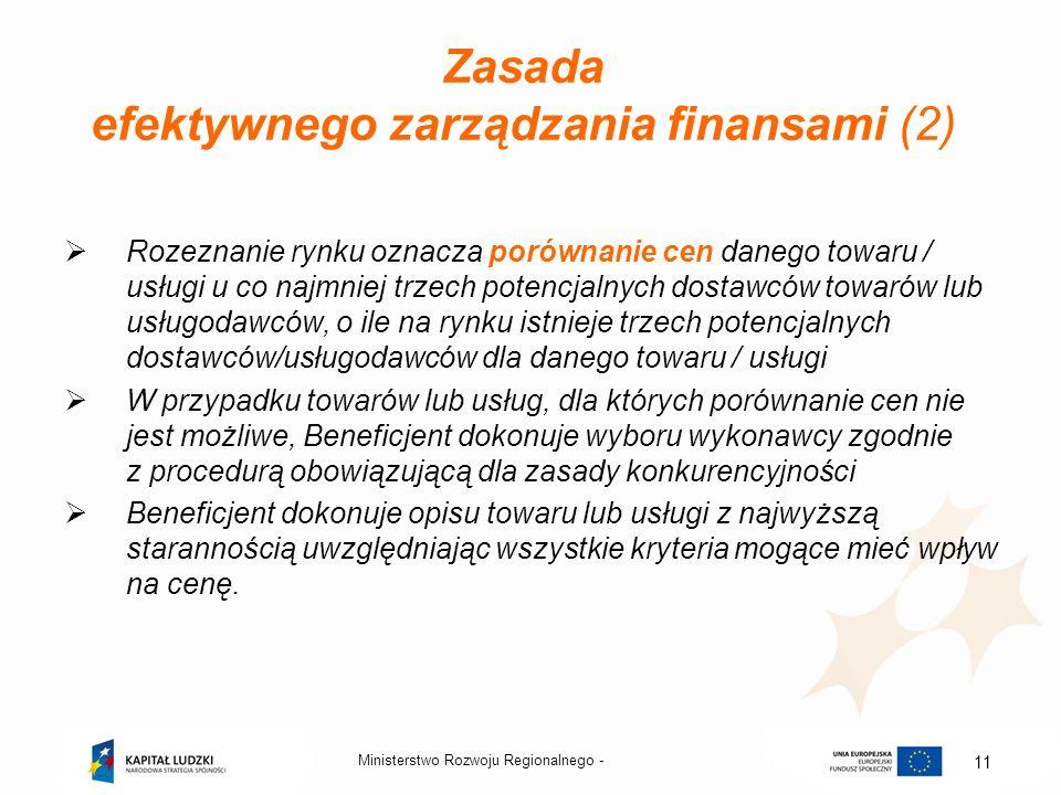 Zasada efektywnego zarządzania finansami (2)