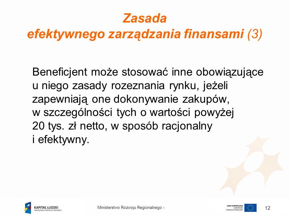 Zasada efektywnego zarządzania finansami (3)