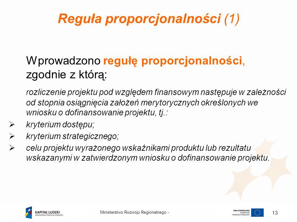 Reguła proporcjonalności (1)