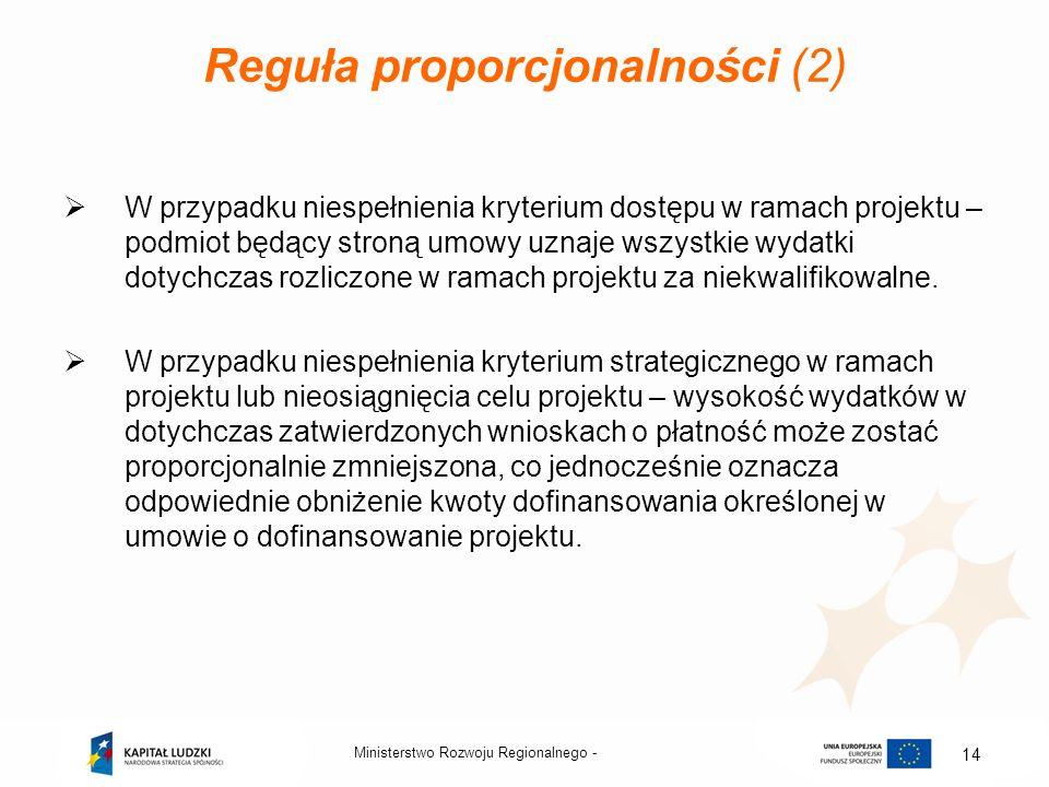 Reguła proporcjonalności (2)