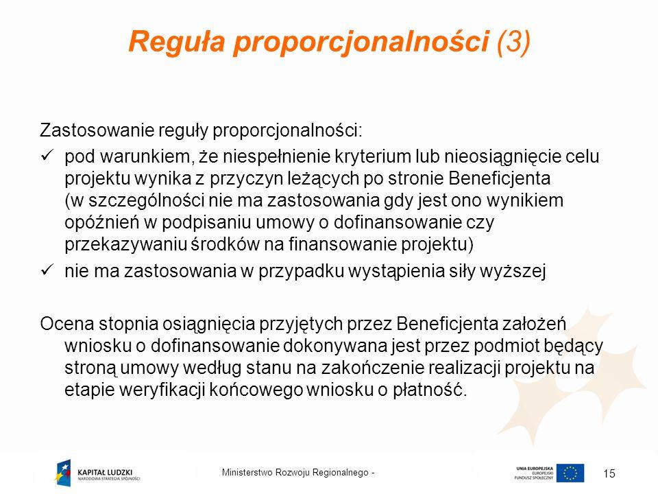 Reguła proporcjonalności (3)