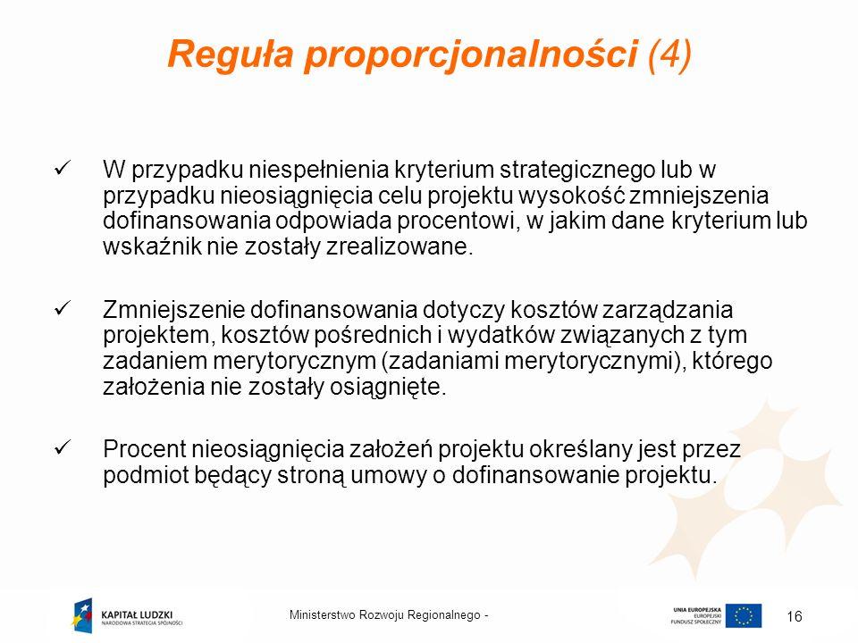 Reguła proporcjonalności (4)