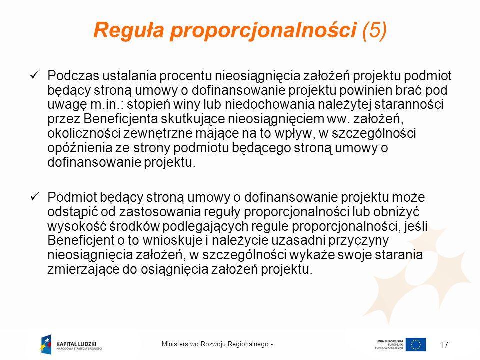 Reguła proporcjonalności (5)