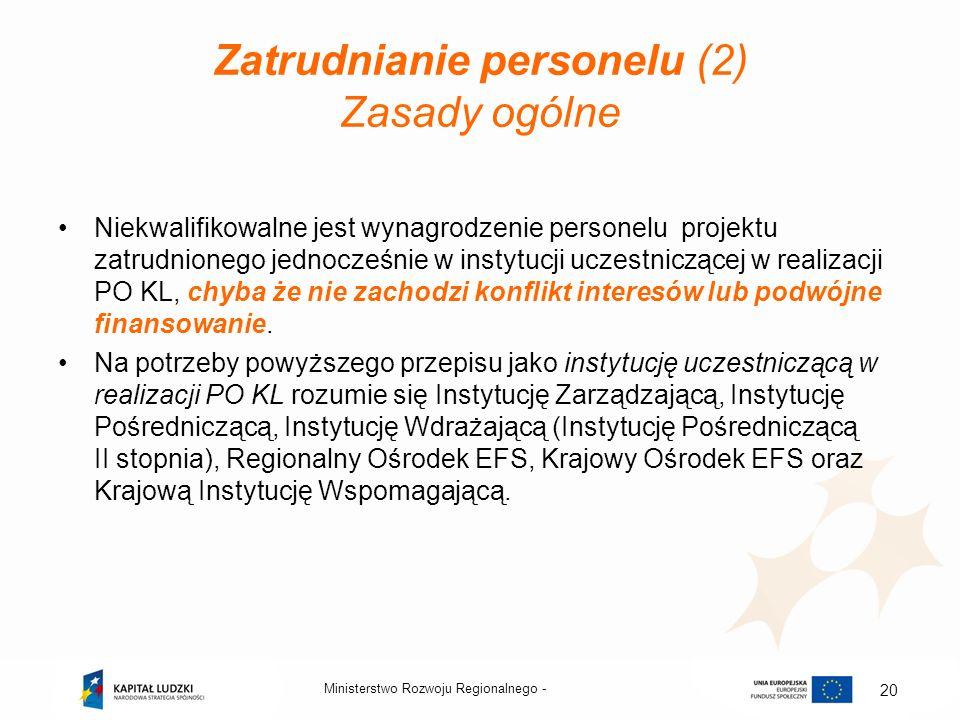 Zatrudnianie personelu (2) Zasady ogólne