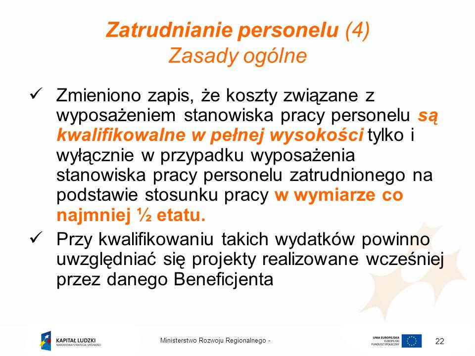 Zatrudnianie personelu (4) Zasady ogólne