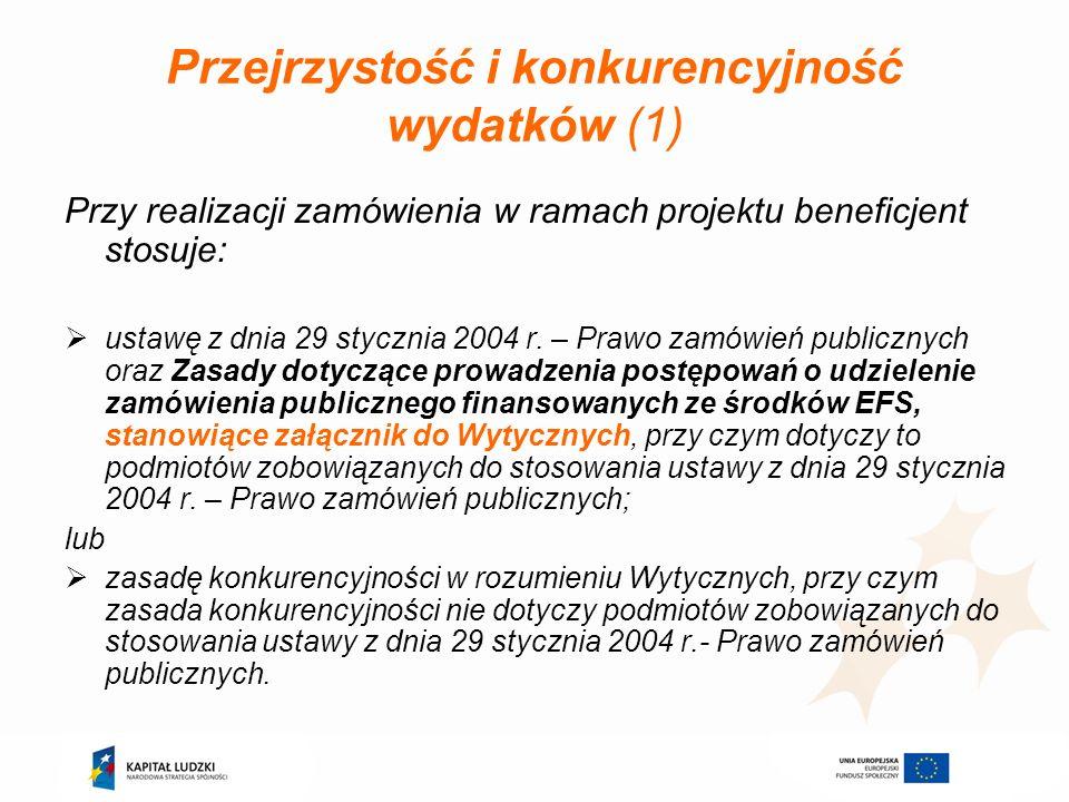 Przejrzystość i konkurencyjność wydatków (1)
