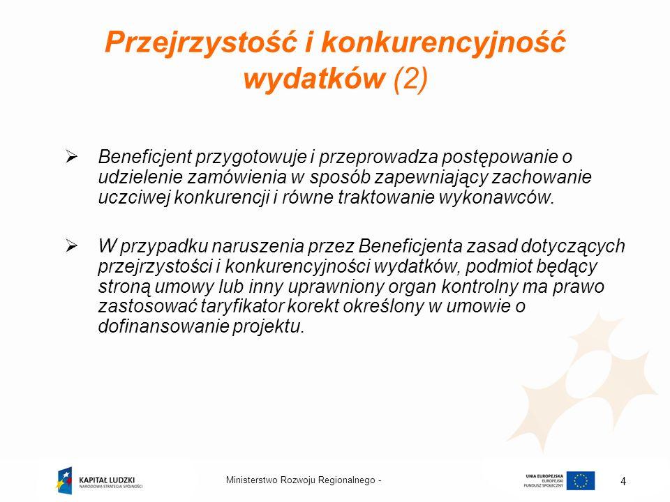 Przejrzystość i konkurencyjność wydatków (2)