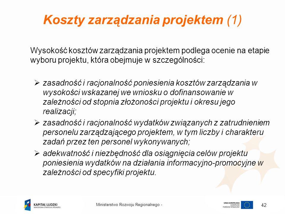 Koszty zarządzania projektem (1)