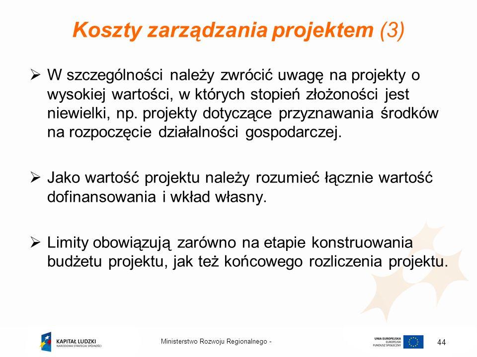 Koszty zarządzania projektem (3)
