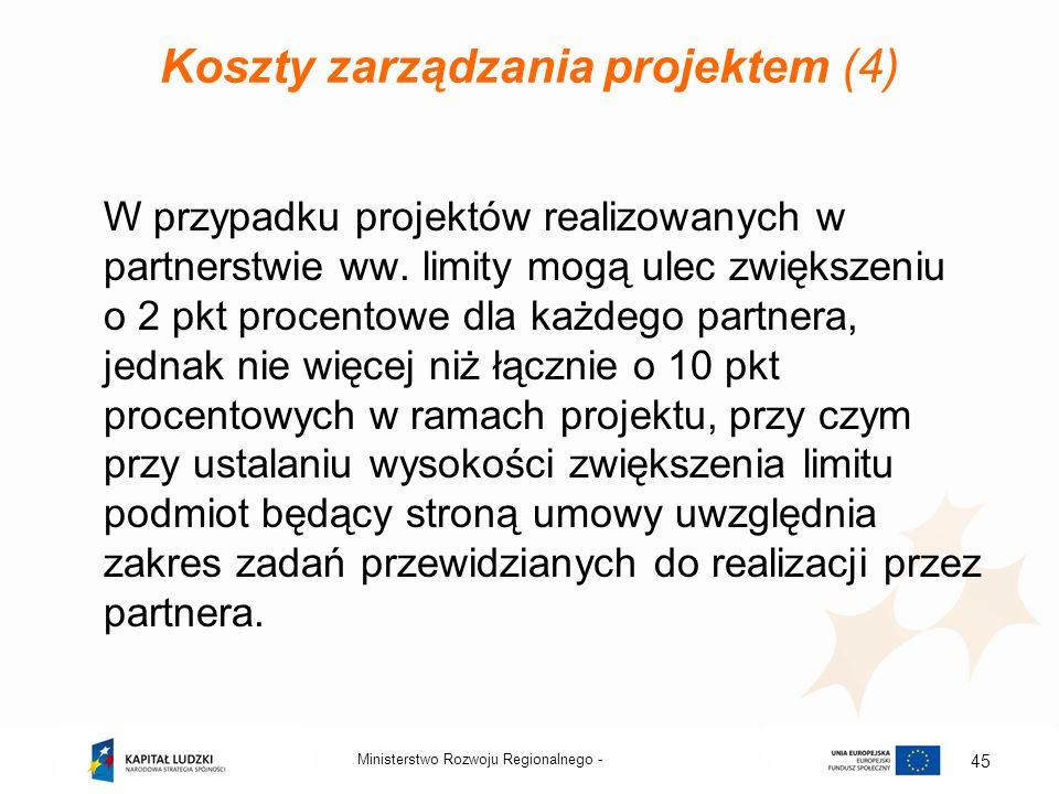 Koszty zarządzania projektem (4)