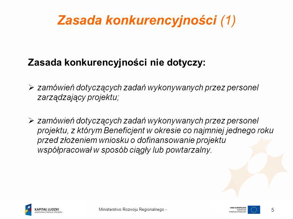 Zasada konkurencyjności (1)