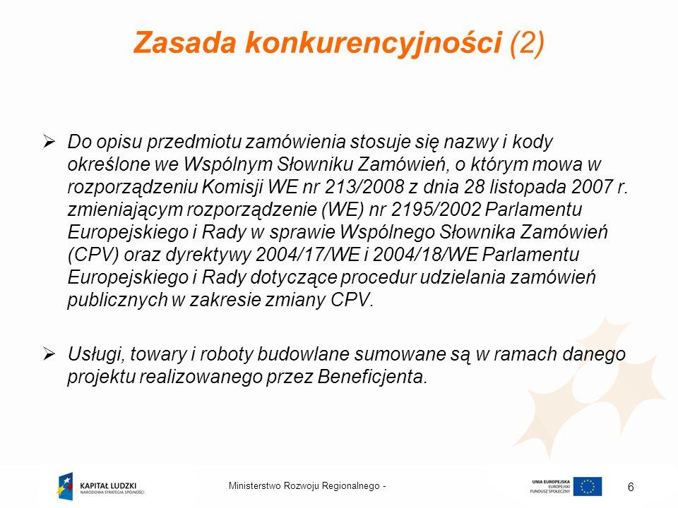 Zasada konkurencyjności (2)