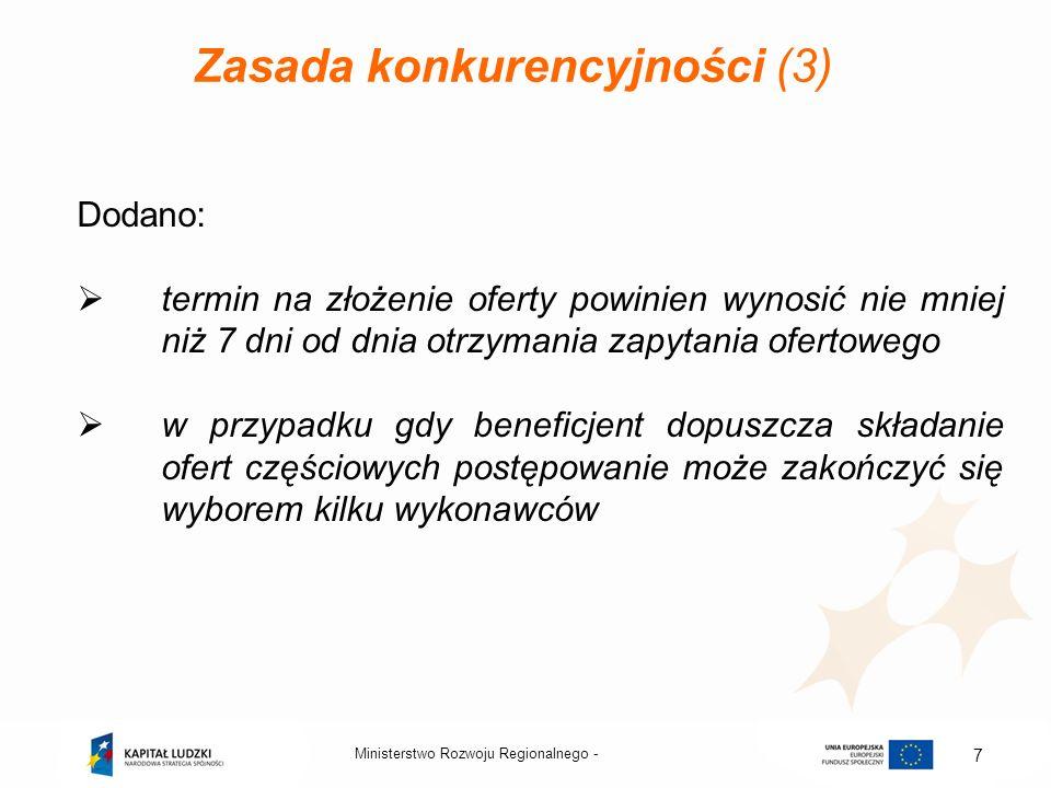 Zasada konkurencyjności (3)